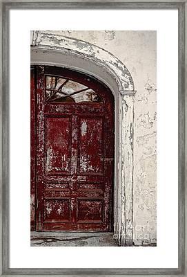 Old Red Door Framed Print by Edward Fielding