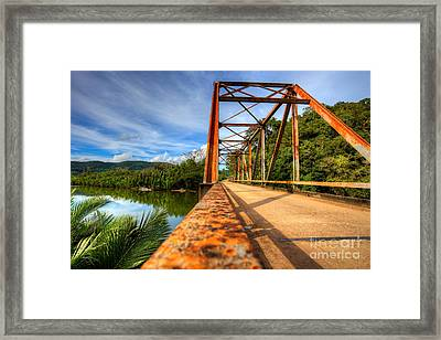 Old Rusty Bridge In Countryside Framed Print by Fototrav Print