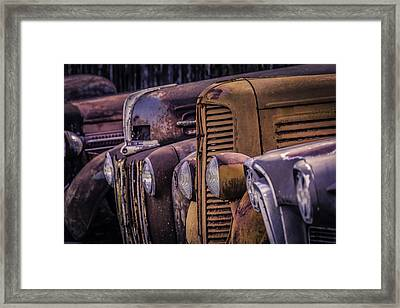 Old Rusty Cars Framed Print by Garry Gay