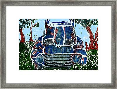 Old Rusty Ford Framed Print by Jame Hayes