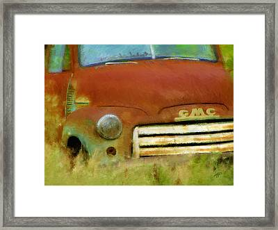 Old Rusty Truck Impressionistic Framed Print by Ann Powell