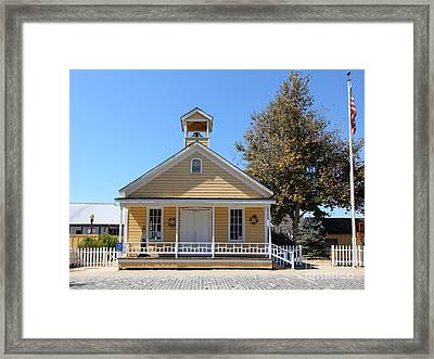 Old Sacramento California Schoolhouse 5d25541 Framed Print by Wingsdomain Art and Photography