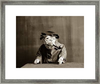 Old Sailor Circa 1905 Framed Print by Aged Pixel