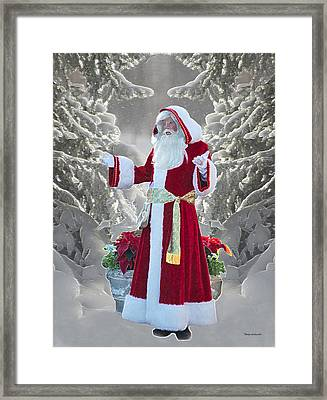 Old Saint Nick Framed Print by Thomas Woolworth