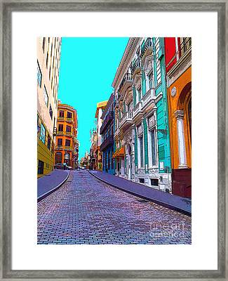 Old San Juan Framed Print by Carey Chen