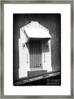 Old San Juan Door Framed Print by John Rizzuto