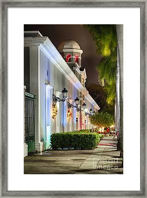 Old San Juan Holiday Impression II Framed Print by George Oze