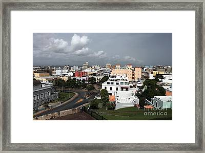 Old San Juan Framed Print by John Rizzuto