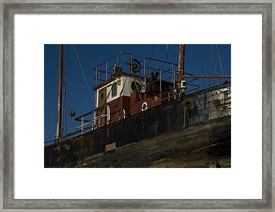 Old Schip Framed Print by TouTouke A Y