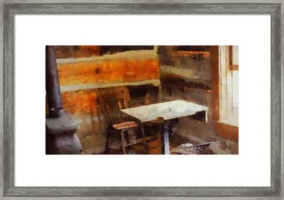 Old School Desk Framed Print by Dan Sproul