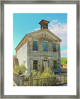 Old School House Bannack Ghost Town Montana Framed Print by Jennie Marie Schell