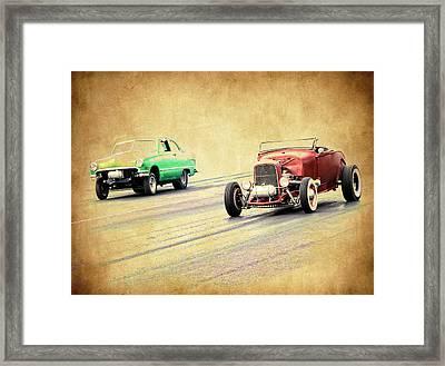 Old Scool Racing Framed Print by Steve McKinzie