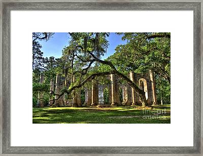 Old Sheldon Church Ruins 2 Framed Print by Reid Callaway