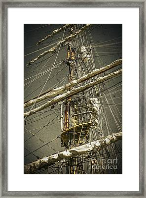 Old Ship Framed Print by Carlos Caetano