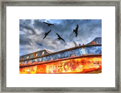 Old Ship Wrack Framed Print by Toppart Sweden