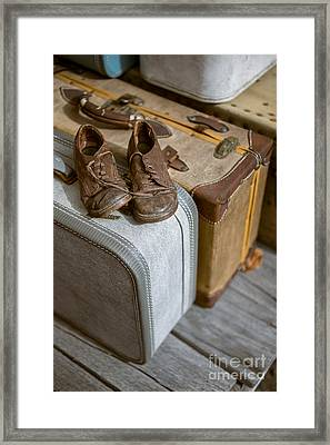 Old Shoes And Packed Bags Framed Print by Edward Fielding