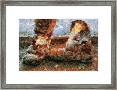Old Snow Boots Framed Print by Ayse Deniz