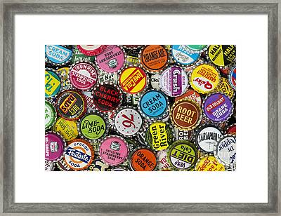 Old Soda Caps  Framed Print by Tim Gainey