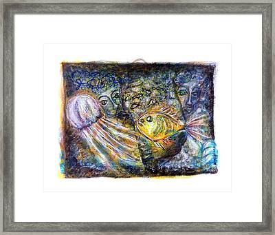 Old Souls Of Atlantis Framed Print by Mimulux patricia no