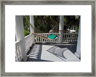 Old South Hammock Framed Print by Catherine Sherman