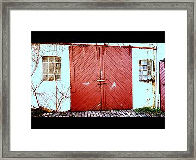 Come And See Me In The Old Stable In The City  Framed Print by Hilde Widerberg
