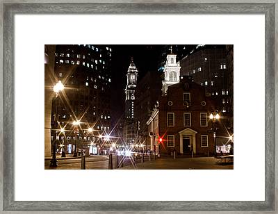 Old State House In Boston Framed Print by John McGraw