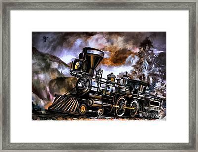 Old Steam Engine  Framed Print by Andrzej Szczerski