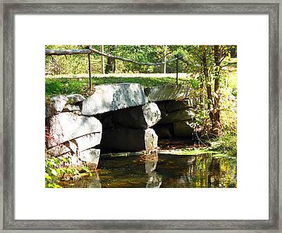Old Stone Bridge Framed Print by Barbara McDevitt