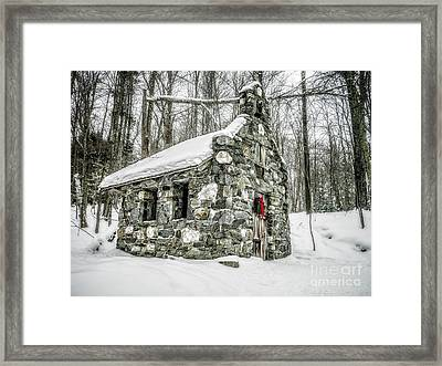 Old Stone Chapel Stowe Vermont Framed Print by Edward Fielding