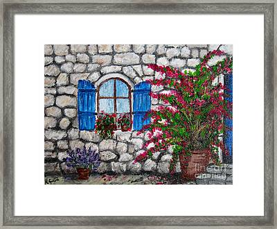 Old Stone House Framed Print by Nikolina Gorisek