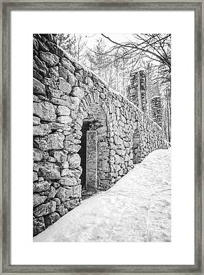 Old Stone Ruins  Framed Print by Edward Fielding