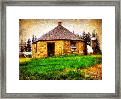 Old Stone Schoolhouse - South Canaan Framed Print by Janine Riley