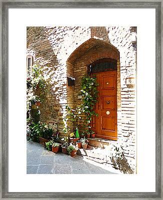 Old Streets Of Tuscany San Gimignano Framed Print by Irina Sztukowski