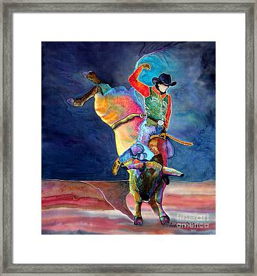 Old Style Bull Framed Print by Anderson R Moore