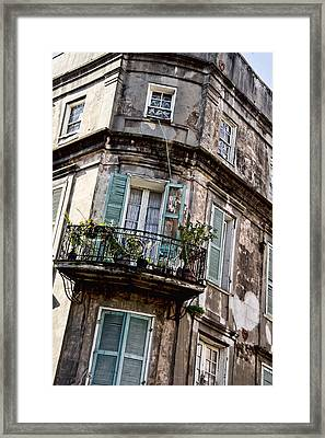 Old Style French Quarter House Framed Print by Alicia Morales