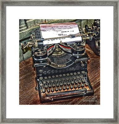 Old Technology Framed Print by Arnie Goldstein
