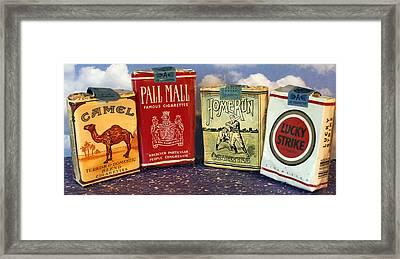 Old Time Cigarette Framed Print by Danny Jones