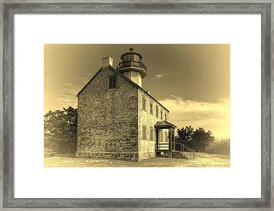 Old Time East Point Light Framed Print by Joan Carroll