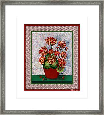 Old Time Geraniums Framed Print by Barbara Griffin