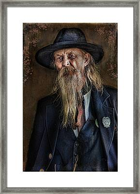 Old Timer Framed Print by Barbara Manis