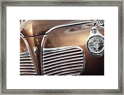 Old Timer Grille Framed Print by Carolina Liechtenstein