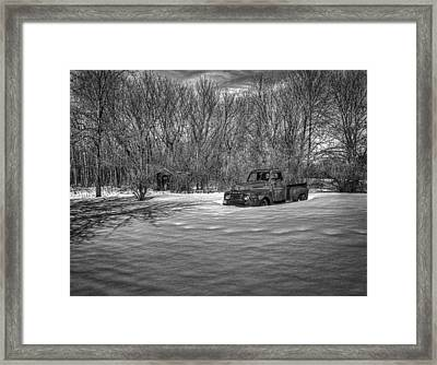 Old Timer In The Snow Framed Print by Thomas Young