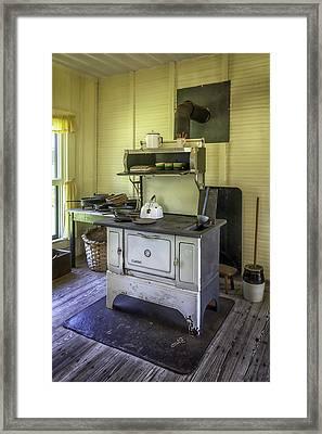 Old Timey Stove Framed Print by Lynn Palmer
