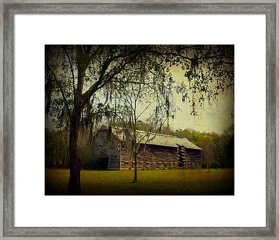 Old Tobacco Barn Framed Print by Carla Parris