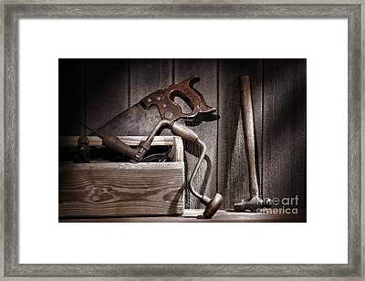 Old Tools Framed Print by Olivier Le Queinec