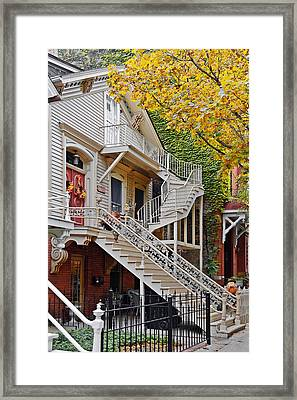 Old Town Chicago Living Framed Print by Christine Till