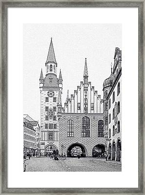 Old Town Hall - Munich - Germany Framed Print by Christine Till