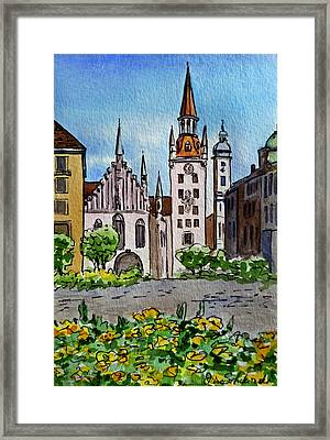 Old Town Hall Munich Germany Framed Print by Irina Sztukowski