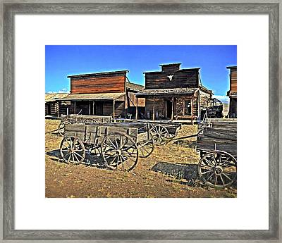 Old Town Mainstreet Framed Print by Marty Koch