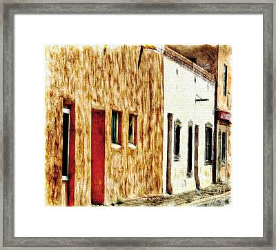 Old Town New Mexico Framed Print by Barbara Chichester